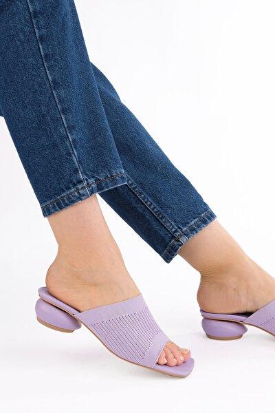 Kadın Triko Topuklu Terlik Nalerlila