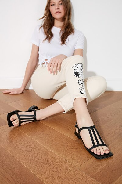 Siyah Kadın Sandalet TAKSS21SD0022