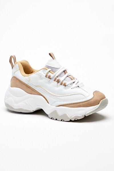 Kadın Bej Bağcıklı Spor Ayakkabı Tb7040