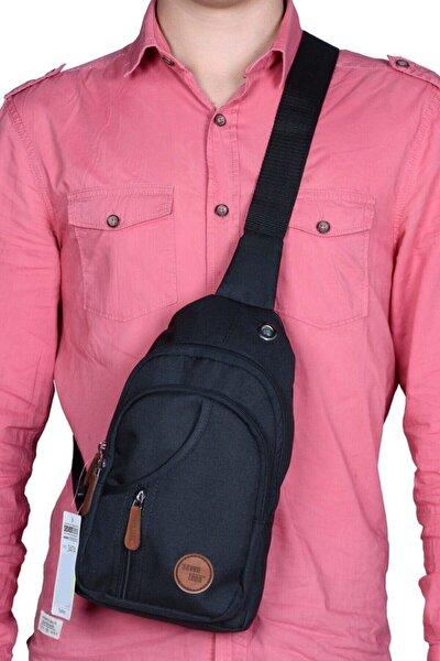 Unisex Siyah Çapraz Sırt Ve Göğüs Çantası Bodybag Çanta