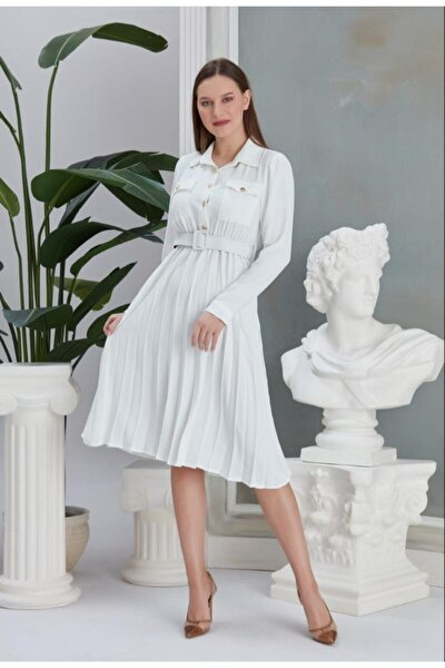 Kadın Beyaz Elbise