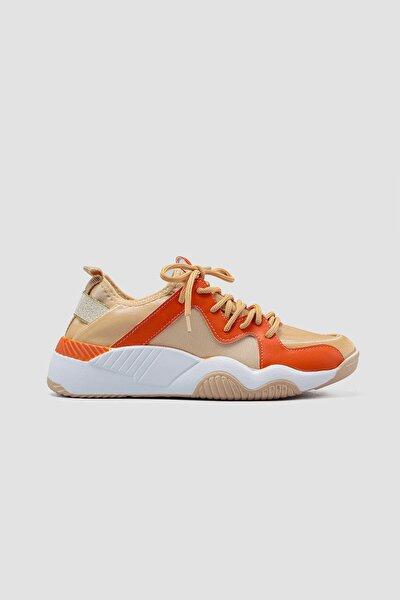 Janna Altın Bilekten Sitreç Bağcık Detaylı Sneakers