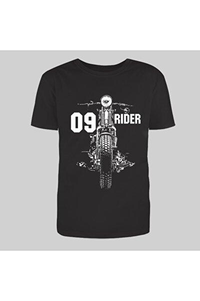 09 Ghostrider Siyah Trend Moda Tshirt
