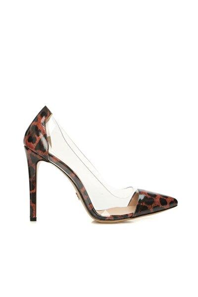 Kadın Leopar Desenli Deri Ayakkabı