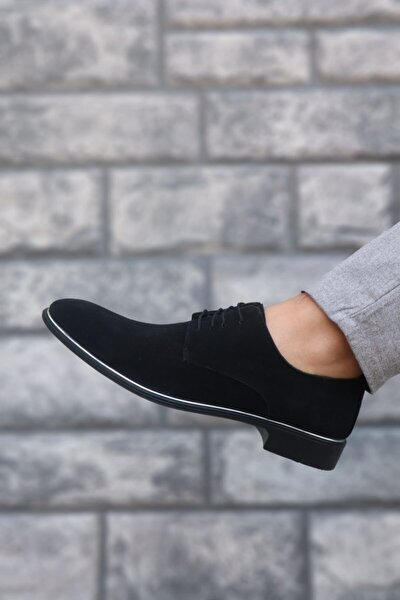 Erkek Siyah Süet Klasik Casual Ayakkabı