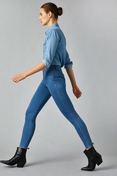 Kadın Orta Indigo Jeans 1KAK47255MD