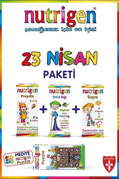 23 Nisan Paketi (Propolis + Balık + Supra) Nutrigen Puzzle Hediyeli
