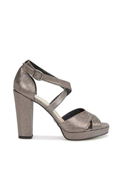 Kadın Platin Silver Topuklu Sandalet