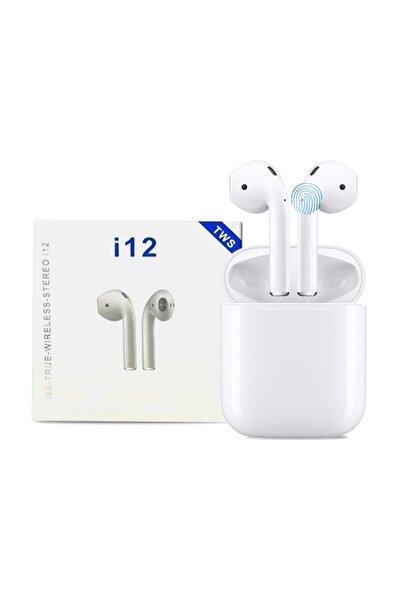 J-54 I12 Beyaz I12 Bluetooth V5.0 Kablosuz I12 Iphone Uyumlu Bluetooth Kulaklık Hd Ses Kalitesi