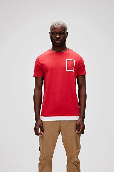 Erkek Parlak Kırmızı Tişört