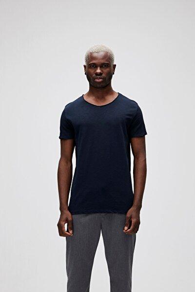 Erkek Lacivert V-neck Tee Navy T-Shirt