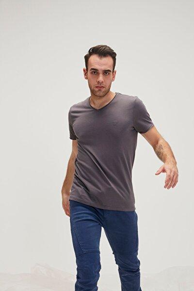 Erkek T-shirt V Yaka