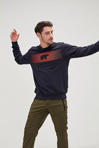 Erkek Lacivert Fancy Sweatshirt