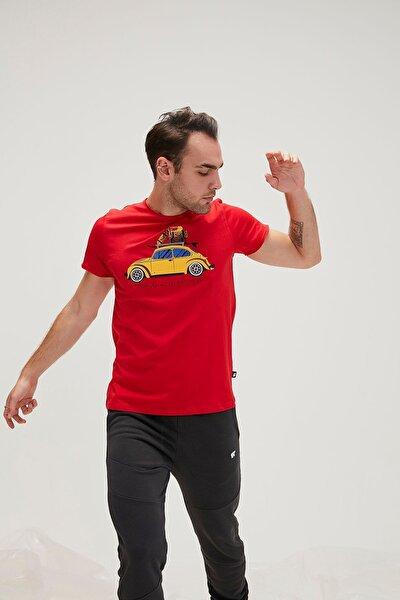 Erkek Kırmızı Kısa Kollu Tişört