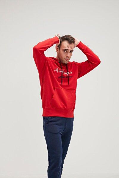 Erkek Kırmızı Scrıpt Hoodıe Crımsonred Sweatshirt