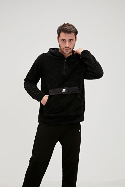 Erkek Siyah Inuıt Plush Sweatshirt