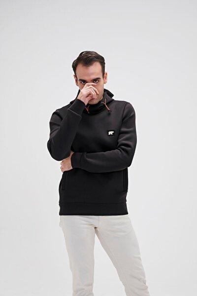 Erkek Siyah Sweatshirt Submarıne Hoodıe Nıght 20.02.12.034-siyah