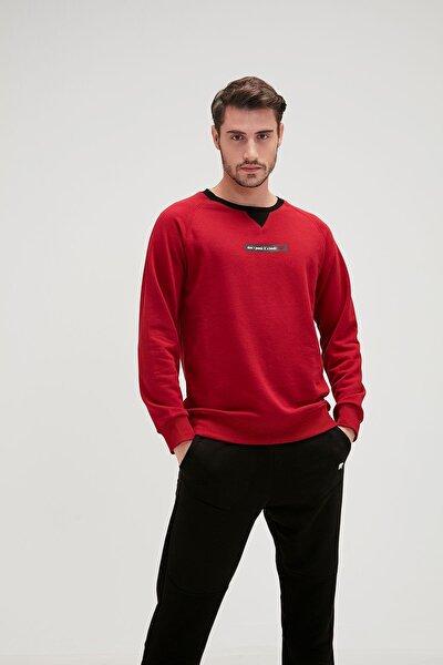 Erkek Bordo Sweatshirt 504848597
