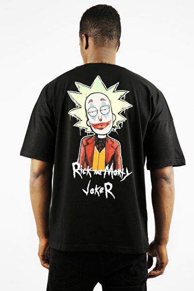 Siyah Önü & Arkası Baskılı Oversize T-shirt 1yxe1-44908-02