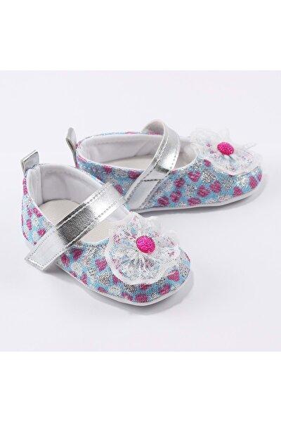 Kız Bebek Mavi İlk Adım Ayakkabısı