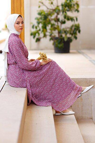Kadın Flower 2021 New Season Dress Elbise