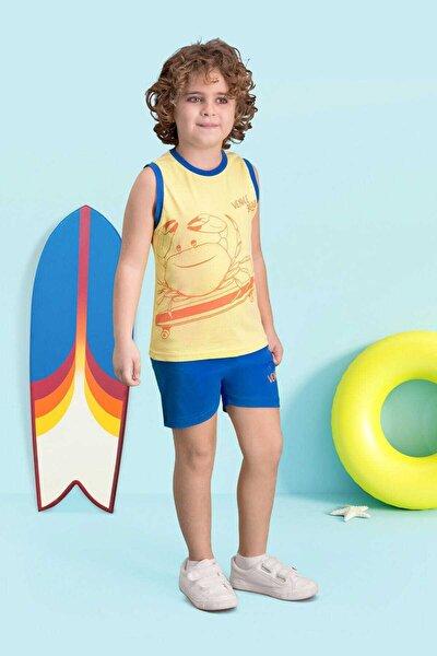 Venice Beach Limon Sarı Erkek Çocuk Şort Takım