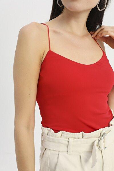 Ip Askılı Bluz Kırmızı