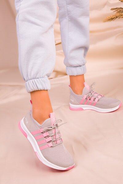 Buz-Pembe Kadın Sneaker 16278