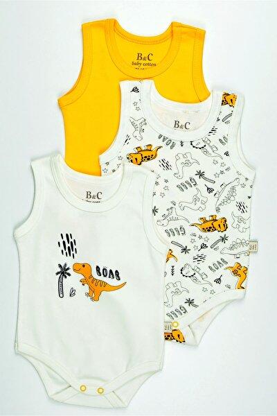 Bebek Baskılı Renkli 3'lü Atlet Badi Zıbın Takımı