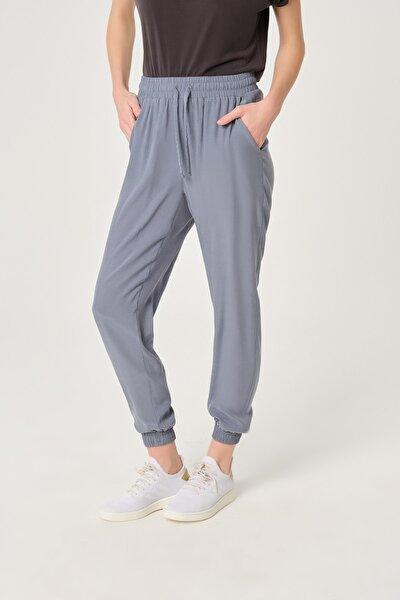 kadın Mavi Cupro Harem Pantolon