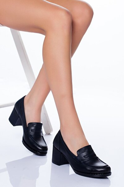 Hakiki Deri Ayakkabı Lacivert 7075