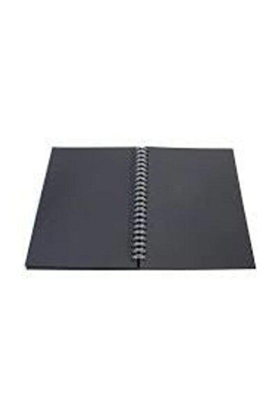 Siyah Yapraklı Defter 17x24 40 Yaprak Side