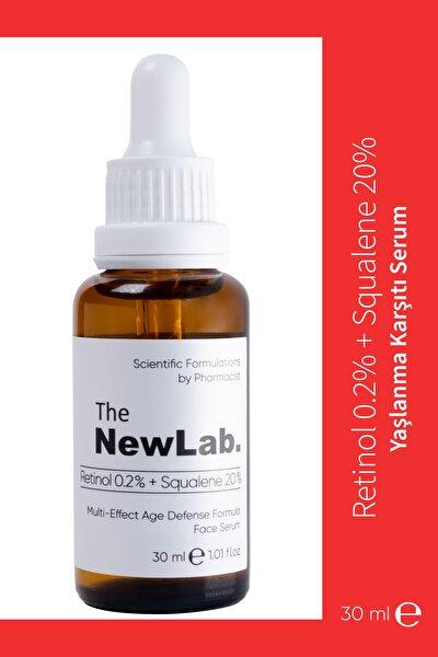 Yaşlanma Karşıtı Yüz Serumu Retinol 0.2% + Squalene 20%
