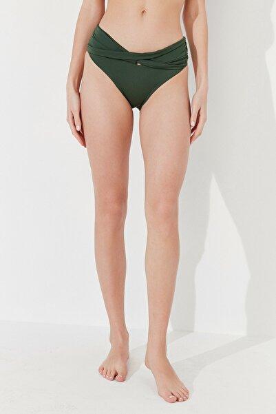 Kadın Koyu Yeşil Basic Twist Bikini Altı