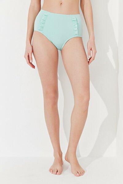 Kadın Mint Yeşili Basic Yüksek Bel Bikini Altı