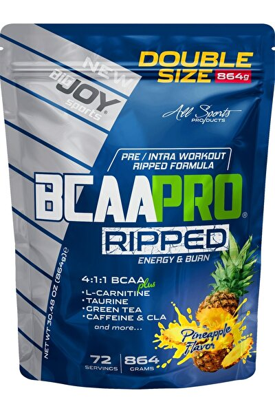 Bigjoy Sports Bcaapro Ripped Bcaa L-carnitine Taurine Caffeine Amino Asit Ananas Aroma 864g