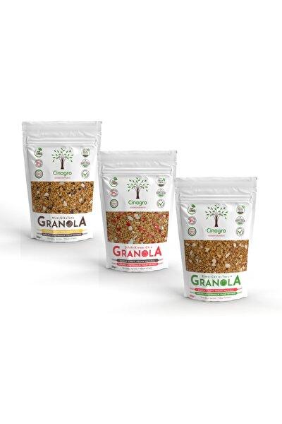 Granola - Çilek Knoa Chia, Muz Çikolata, Elma Ceviz Tarçın 3'lü Set