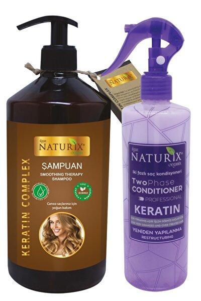 Tuzsuz Keratinli Şampuanı 600ml Kırık Saç Uçları İçin Keratin Bakım Sıvı Saç Kremi Durulanmaz Krem