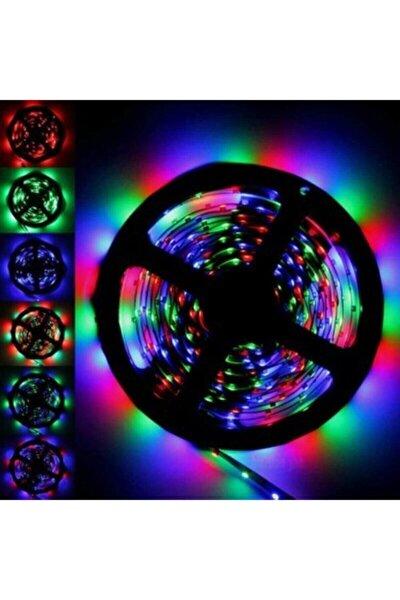 5mt Kumandalı Işıldak Rgb Şerit Led Lamba Iç Ve Dış Mekan Silikon Yapışkanlı Aydınlatma