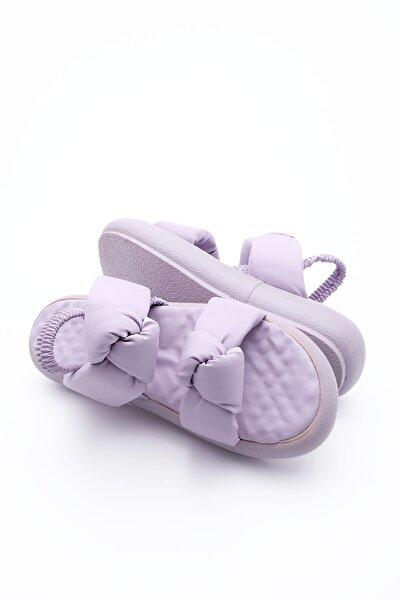 Kadın Lila Horev Dolgu Topuk Sandalet