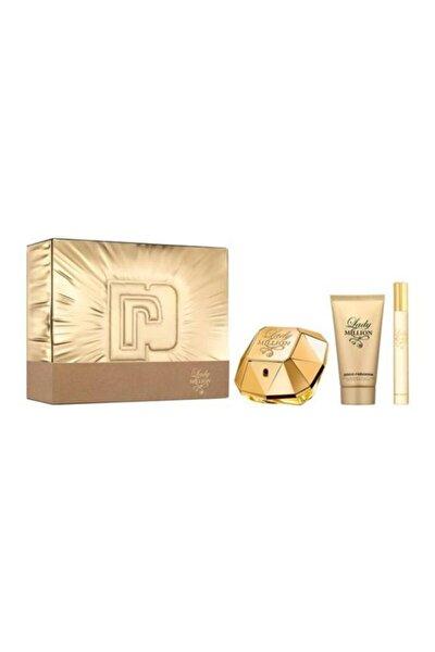 Lady Million Edp 80 ml ve 10 ml Kadın Parfüm  + Body Lotion 100 ml 3349668582853