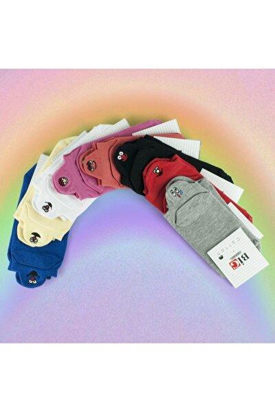 Unisex Emoji  Gökkuşağı Paketi Çoraplar 8'lı