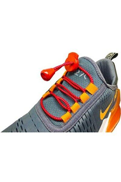 Kırmızı Akıllı Kilitli Elastik Ayakkabı Bağcık 100 Cm