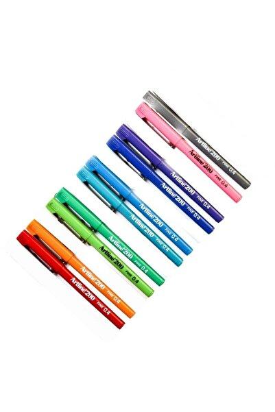 200 Fineliner 0.4 Mm Ince Uçlu Yazı Ve Çizim Kalemi 10 Re