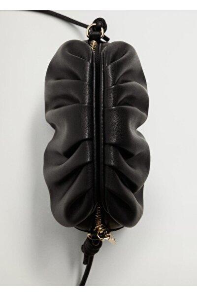 Kadın Siyah Pilili Mini Çanta