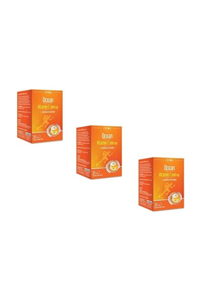 Vitamin C 1000 Mg 30 Tablet 3'lü Paket