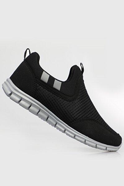 Unisex Siyah Buz Ortopedik Konforlu Yürüyüş Spor Sneaker Ayakkabı