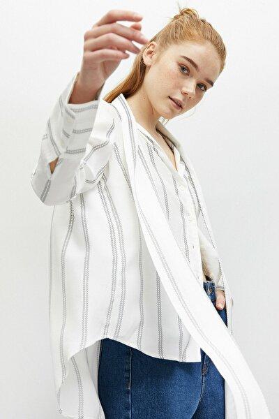 Kadın Uzun Kollu Fular Yaka Gömlek