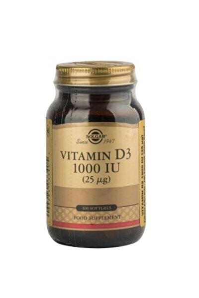 Vitamin D3 Içeren Takviye Edici Gıda 1000ıu Yumuşak 100 Kapsül