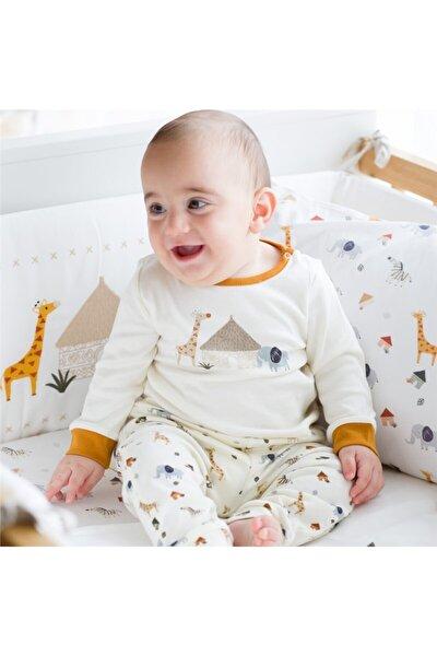 Safari Uzun Kollu Pijama Takımı Ekru-desenli